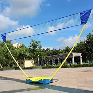 HLC 3 in 1 Outdoor Portable Badminton Set,Tennis, Badminton, Volleyball Net with Stand, Battledore