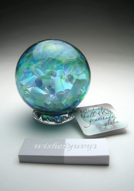 Wish Pendants Globe Pendants Glass Charms, Wish Globe Glass Pendants Glitter Globe Glass Orb Good Luck Globe Charms
