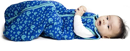 Baby deedee Sleep Nest Tee Baby Sleeping Bag, Playful Whales, Small, 0-6 Months