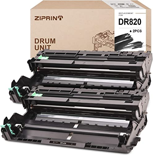 lowest ZIPRINT Compatible outlet online sale Drum Unit Replacement for Brother DR820 DR-820 to use with MFC-L5700DW MFC-L5800DW MFC-L5900DW HL-L5100DN HL-L5200DW HL-L6200DWT DCP-L5650DN DCP-L5600DN printer (2 Drum online sale Unit, Black) outlet sale