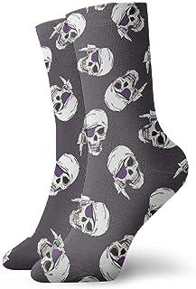 yting, Piratas Calaveras Calcetines de vestir Calcetines divertidos Calcetines locos Calcetines casuales para niñas Niños