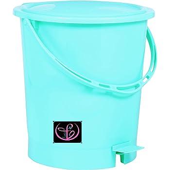 Fuscia™ Plastic Dustbin for Home 12L (Random Color)