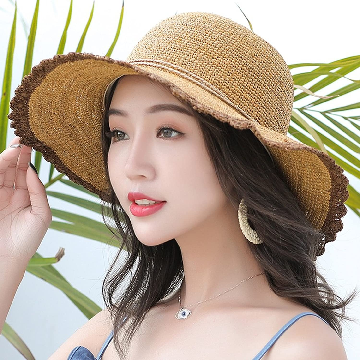 Cool Hat Women's Sombrero Sun Hat UV Predection Sun Visor Foldable SweatProof Breathable Travel Casual Hat (4 colors Optional)