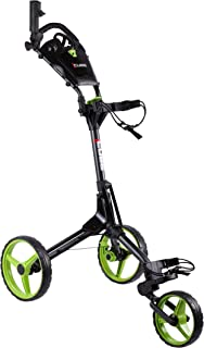 Cube CART 3 Wheel Push Pull Golf CART - Two Step Open/Close - Smallest Folding Lightweight Golf CART in The World - Choose Color!