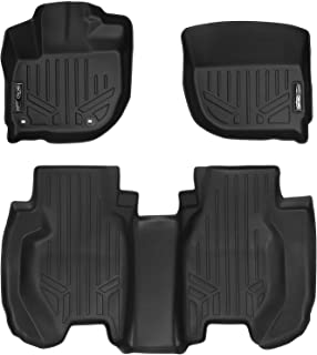 MAXLINER Floor Mats 2 Row Liner Set Black for 2015-2019 Honda Fit