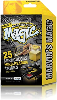 Marvin's Magic Mind-Blowing Magic 25 Miraculous Mind Reading Tricks Set.Professional magic made easy