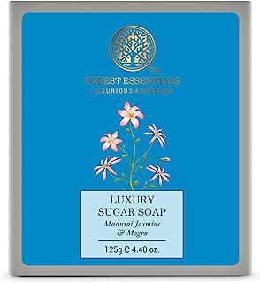 Forest Essentials Luxury Sugar Soap Madurai Jasmine & Mogra 125g