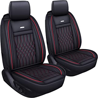 LUCKYMAN CLUB 2 pc Auto Car Seat Covers Fit Most Sedan SUV Crew Cab Truck Nicely Fit for Kia Sportage NIRO Optima Forte Hatchback Soul Rio Nissan Sentra Altima Maxima Xterra Ford Vw Acura Hyundai