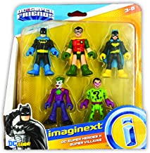 Fisher-Price Imaginext DC Heroes and Super Villains Action Figure 5-Pack