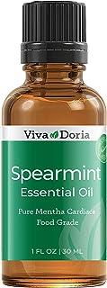 Viva Doria 100% Pure Spearmint Essential Oil, Undiluted, Food Grade, High Quality Spearmint Oil, 30 mL (1fl oz)