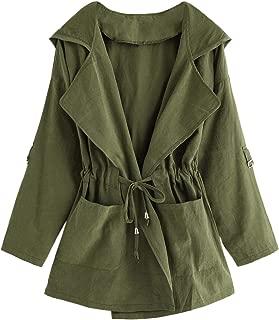 Best army green long sleeve lapel coat Reviews