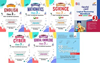 Olympiad Champs Science, Mathematics, English, Logical Reasoning, Cyber & GK Class 3 with 28 Mock Tests (set of 7 books) 2nd Edition