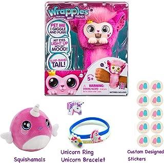 Simple Joy Little Live Princeza Wrapples with Squishamals (Season 2) Gift Bundle