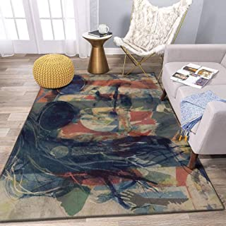 John Lennon Mind Games Area Rug and Yoga Carpet for Home Living Room, Large Anti Slip Contemporary Rug for Floor Home Door
