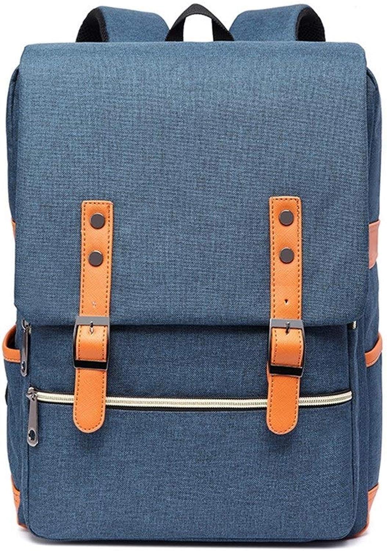 HUIJUNWENTI Computer Rucksack, High School Student Tasche, Canvas Reisetasche, Dekompression atmungsaktiv