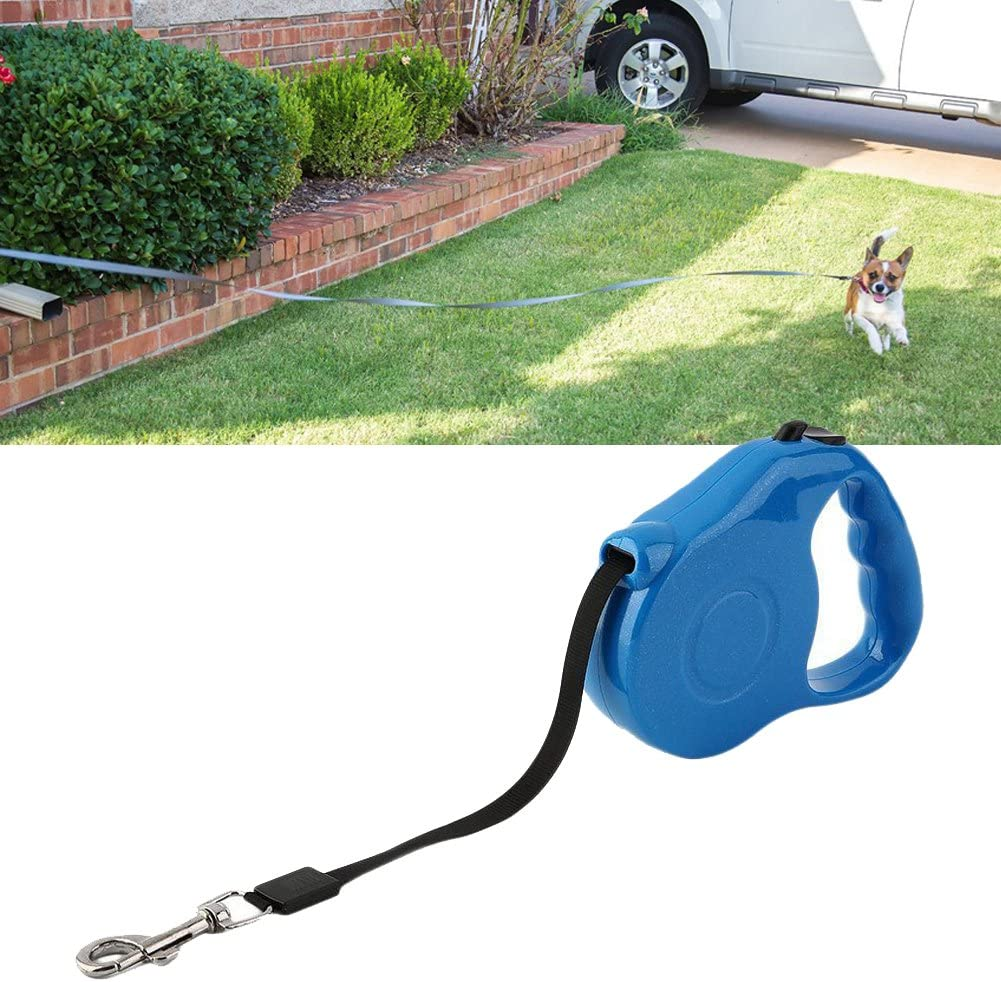 ttnight Dog Lead Leash Automatic Retractable Traction Rope Chain Pet Walking Collar 3M