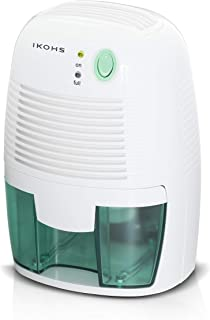 comprar comparacion IKOHS DRYZONE - Deshumidificador de Aire Electrico, Mini Deshumidificador 500ml Portátil y Silencioso, Apagado automático,...