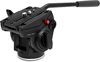 KINGJOY Video Head, Tripod Fluid Drag Pan Tilt Head with 1/4 and 3/8 inches Screws Sliding Plate for DSLR Camera Camcorders, VT-3510