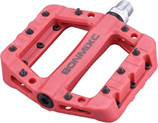 BONMIXC Nylon Composite Bike Pedals Nice Traction 9/16 inch Cr-Mo Spindle Sealed Bearing Road Bicycle Pedals