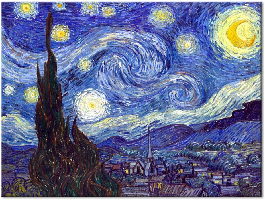 Manufacturer direct delivery Pyradecor Starry Elegant Night Large Van Paintings Reproduction Gogh Oil