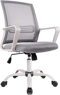 RXF sillas Oficina Silla De Oficina En Casa Malla Oficina Computadora Escritorio Giratorio Silla De Trabajo Silla Ejecutiva Ergonómica(Color:Gris)