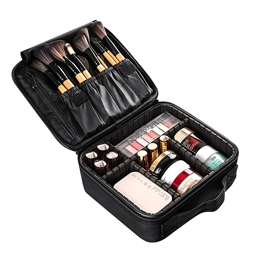 スパイラル著者一方、ELOKI プロ用 メイクボックス 高品質 收納抜群 大容量 化粧バッグ 置き方が調整できる 旅行 家用に大活躍な化粧箱