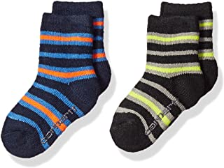 Carhartt boys BA861-2-WEB Crew Socks With Grippers 2-pair Casual Sock