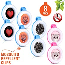Premium Clip On Mosquito, Bug & Insect Repellent [8-Pack] | Super Cute, Safe & Effective Bug Repeller Clipons | Camping, Hiking, Indoor & Outdoor Protections for 1400 Hours | No Skin Contact …