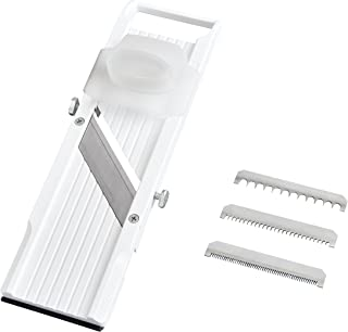 Benriner Mandoline Slicer, with 4 Japanese Stainless Steel Blades, BPA Free, New Model