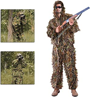 Antik shop ,camo Hunting Jacket,Leaf Ghillie Suit Woodland Camo Camouflage Clothing 3D Jungle Hunting