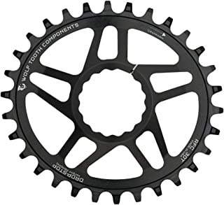 Wolf Tooth Components Elliptical Drop-Stop Chainring: 32T, for RaceFace Cinch Direct Mount, Boost Chainline