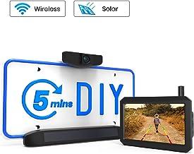$189 » AUTO VOX Solar Wireless Backup Camera, 5 Mins DIY Installation, 5-inch HD Monitor with Digital Wireless Signal and HD Image Waterproof Rear View Camera for Trucks, Car,SUV,Pickup