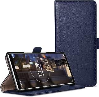 WE LOVE CASE Xperia 5 ケース カバー 手帳型 合皮レザー カード収納 マグネット式 Qi充電対応 二つ折り 上品 財布型 おしゃれ かわいい エクスぺリア 5 ケース Xperia5 ケース