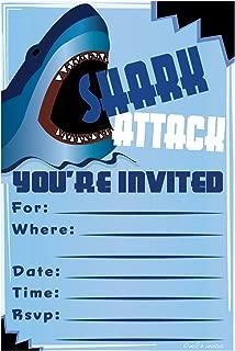 shark birthday invitation template
