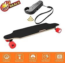 Aceshin Electric Skateboard with Remote Control for Adults Teens Youths 250W Dual Motor 20KM/H Top Speed 10 KM Range Longboard 7 Layers Maple Waterproof IP54 E-Skateboard