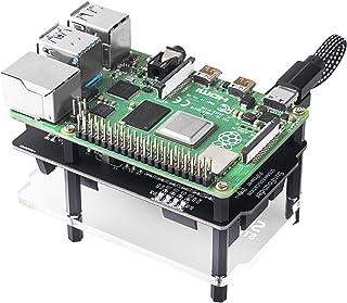 SunFounder Raspberry Pi 電源管理モジュール、ラズベリーパイ UPS 電源 無停電拡張ボード、5V/3A ラズパイ パワーバンク、充電中の放電(5V/0.5A-2A)対応、Raspberry Pi 4B 3B+ 3B 2B...