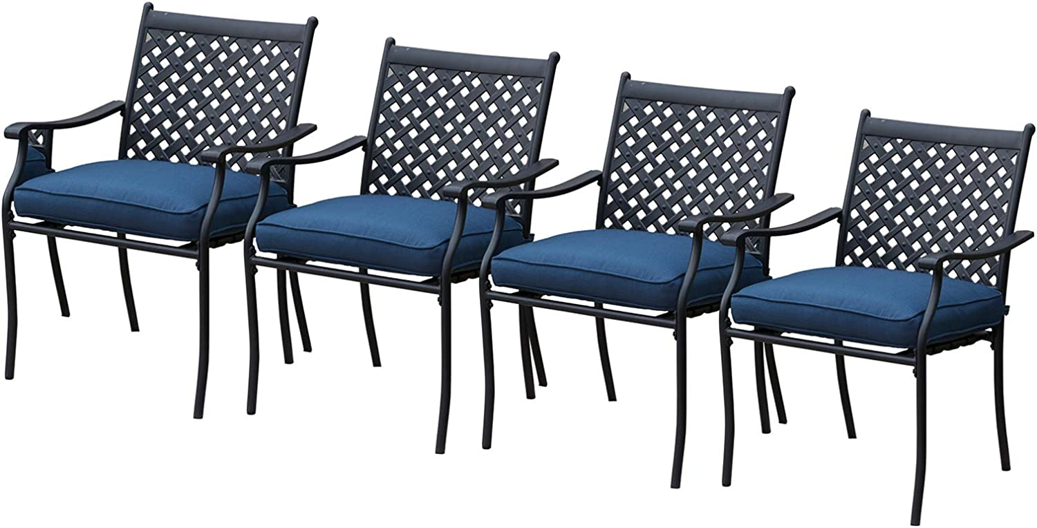 Festival Bargain sale Depot 4 Piece Outdoor Max 83% OFF Wrought I Patio Furniture