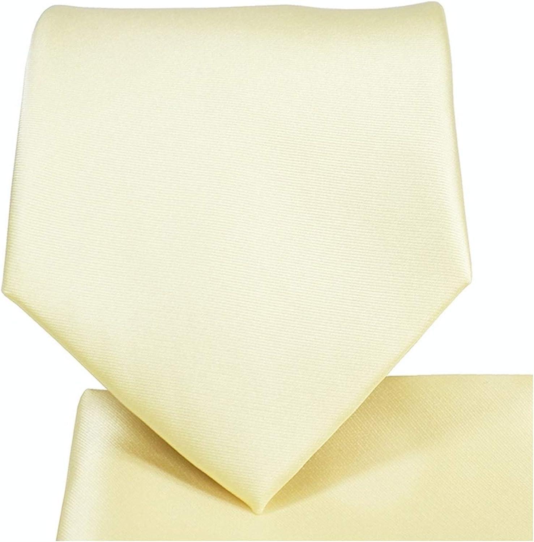 Men's Skinny Slim Narrow Necktie Handkerchief Set