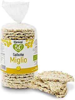Carioni Food & Health Gallette al miglio biologiche, 100g (Confezione da 12 Pezzi)