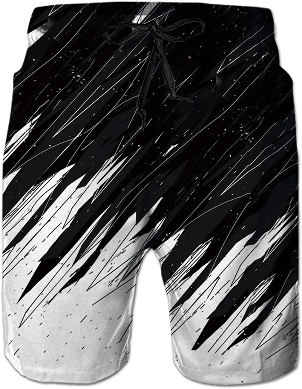uideazone Mens Swim Trunks Elastic Waist Surfing Beach Board Shorts Quick Dry Board Shorts Bathing Suit with Mesh Lining