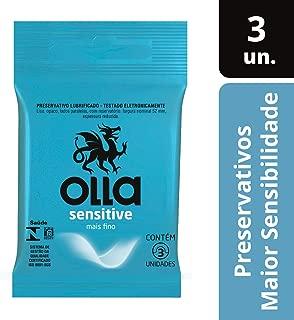 Preservativo Lubrificado Sensitive, Olla, Pacote de 3