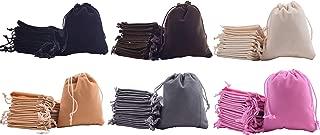 Sansam 20pcs 10 Colors Mixed Drawstrings Velvet Gift Bags Velvet Jewelry Pouches for Wedding Favors, Candy Bags, Party Favors, 5.2x7.2''
