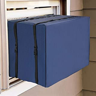 """Qualward Outdoor Window Air Conditioner Cover Units Outside Dust-Proof Waterproof AC Outdoor Covers Unit (25.5"""" W x 17"""" H ..."""