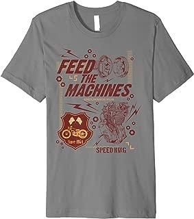 Motorcycle Vintage Biker Motocross Engine Feed The Machines Premium T-Shirt