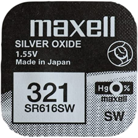 One (1) x Maxell 321sr616sw SB-AF oxyde d'argent pour montre 1,55V
