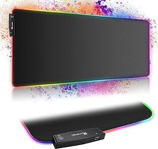 BEYAWL Gaming Mauspad,RGB Mousepad mit HUB-Funktion und 15 Beleuchtungs Modi,XXL Mauspad 800*300 *4mm,Mouse Pad rutschfest...