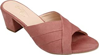 BELLA TOES Women's Synthetic Leather Casual Block Heels Sandal