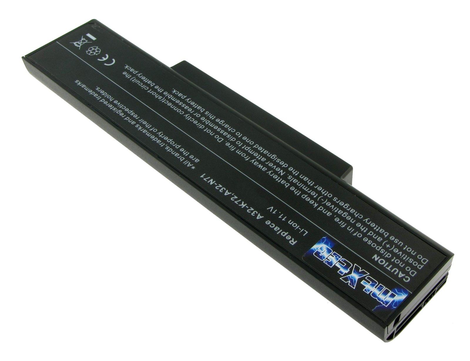 A32-K72 MTXtec Batería del portátil 5200 mAh (58Wh), LiIon 10.8V ...