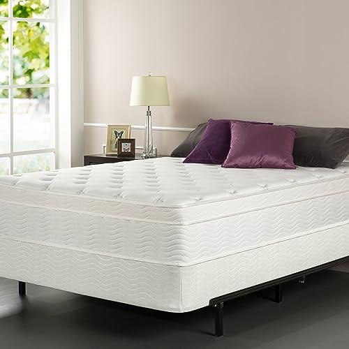 Sleep Master iCoil 13 Inch Euro Top Spring Mattress and BiFold Box Spring Set, Queen