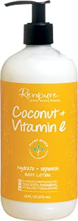 Renpure Plant-Based Beauty Coconut & Vitamin E Hydrate + Replenish Body Lotion, 16 fl oz (473 ml)
